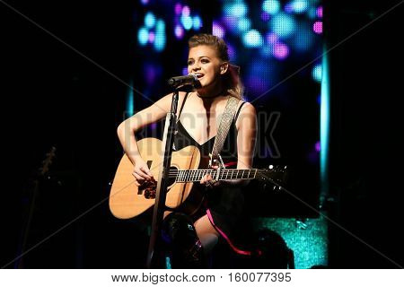 NEW YORK-DEC 2: Country music artist Kelsea Ballerini performs in concert at Irving Plaza on December 2, 2016 in New York City.