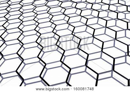 The crystal lattice of graphene over plane .