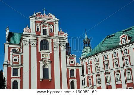Baroque Catholic parish church in Poznan in Poland