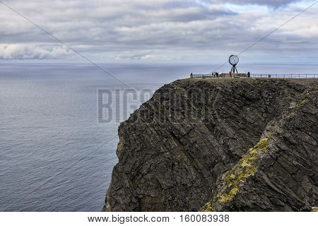 North Cape (Nordkapp) is a cape on the northern coast of the island of Mageroya in Norway. The European route E69 highway has its northern terminus here, since it is a popular tourist attraction