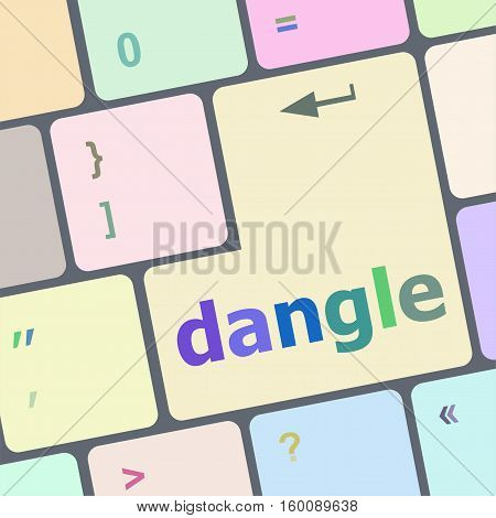 dangle word on computer keyboard key button