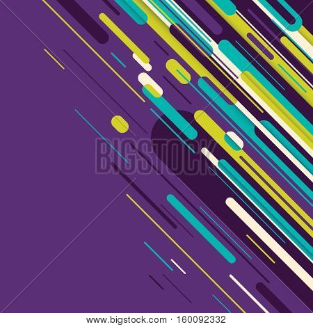 Abstract style design in color. Vector illustration.