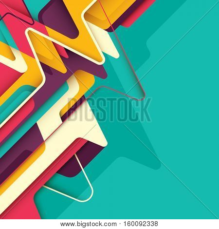 Abstract style design. Vector illustration.