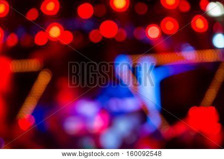 Defocused Entertainment Concert Lighting On Stage, Bokeh