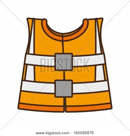 cartoon reflective vest safety work design vector illustration eps 10