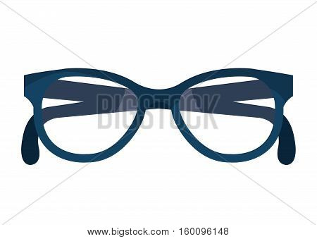 Glasses or googles isolated icon over whitebackground, vector illustration.