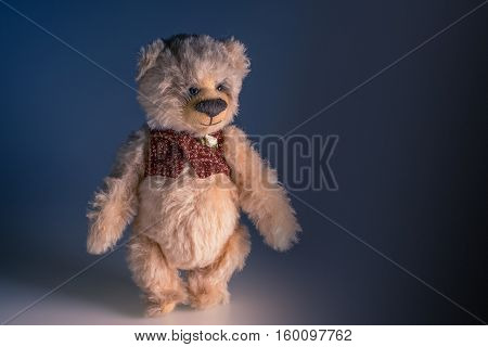 Soft toy bear, made by hand, toy, decoration