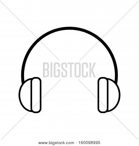 outline hearing protection industrial element vector illustration eps 10