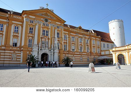 Baroque monastery, Wachau Valley, Melk, Austria, Europe