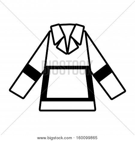 outline protective jacket reflecting strips vector illustration eps 10
