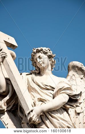 Angel with the Cross, Ponte Sant'Angelo, Rome, Italy.