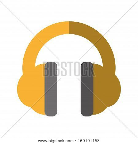 cartoon hearing protection industrial element shadow vector illustration eps 10