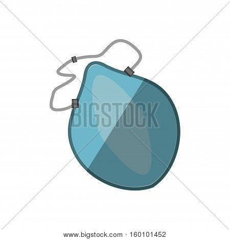 cartoon breathing mask respiration protection shadow vector illustration eps 10