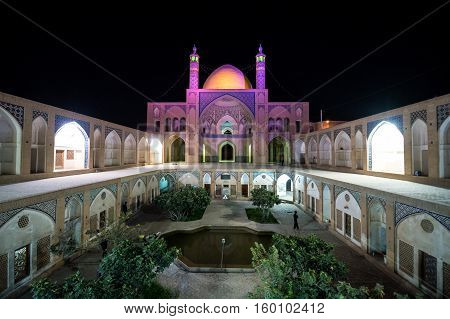 Agha Bozorg mosque in Kashan city in Iran