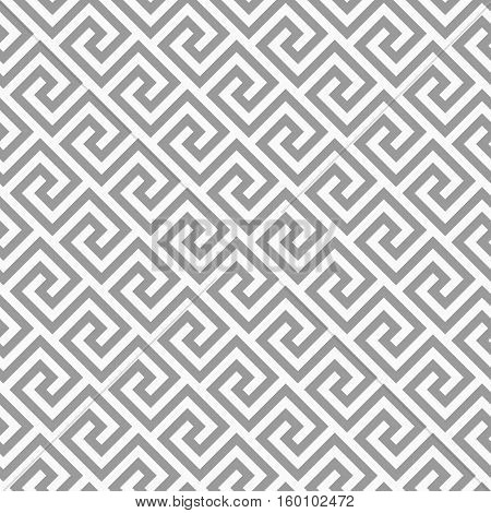 Geometric Line. Abstract Seamless Pattern With Greek Antique Motif