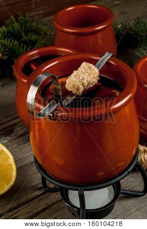 Traditional German Christmas Drink Feuerzangenbowle