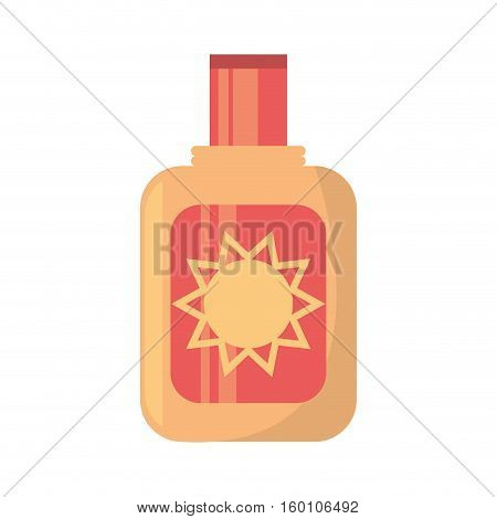 sun blocker cream solar beach vector illustration eps 10