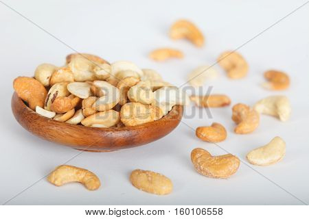 Cashew nuts. Healthy food, rich in heart friendly fatty acids.
