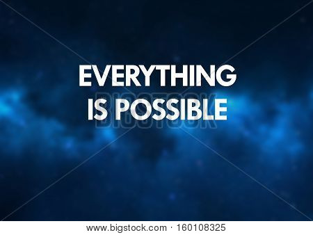 Fitness and motivation quotes: Everything is possible