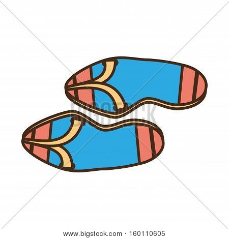 flip flop sandals beach blue and pink vector illustration eps 10