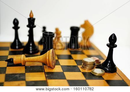 Abstract Composition Of Chess Figures.
