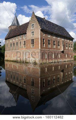 Dussen castle in the municipality of Werkendam in the Dutch province Noord-Brabant