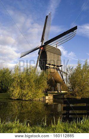 Noordeveldse mill near Dussen in the municipality Werkendam in the Dutch province Noord-Brabant