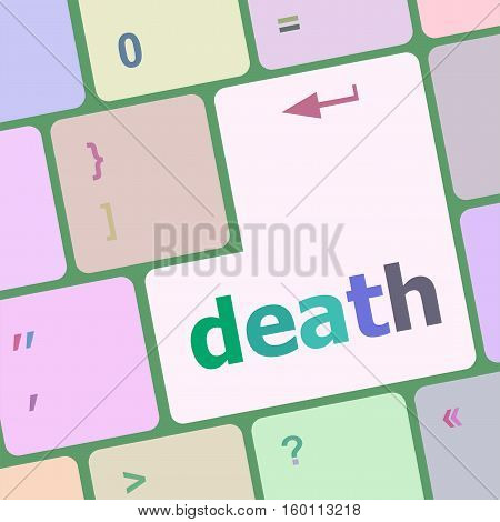 Death Word On Keyboard Key, Notebook Computer Button