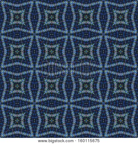 Seamless dark blue oramental endless decor pattern