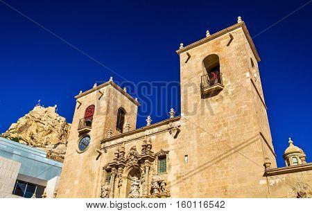 The Basilica of Santa Maria, the oldest active church in Alicante, Spain