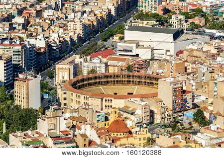 Plaza de toros, the bullfighting arena in Alicante - Spain