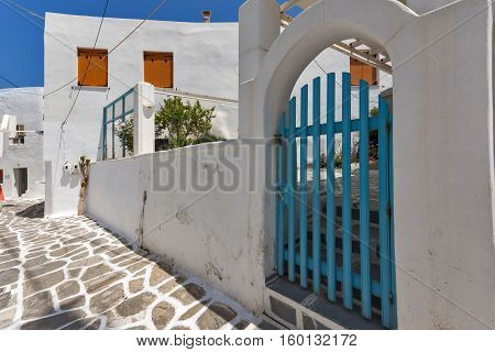 Old stone house in Naoussa town, Paros island, Cyclades, Greece