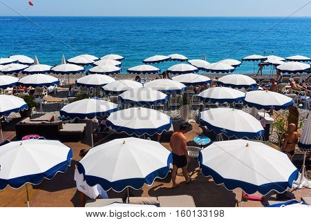 City Beach Of Nice, Italy