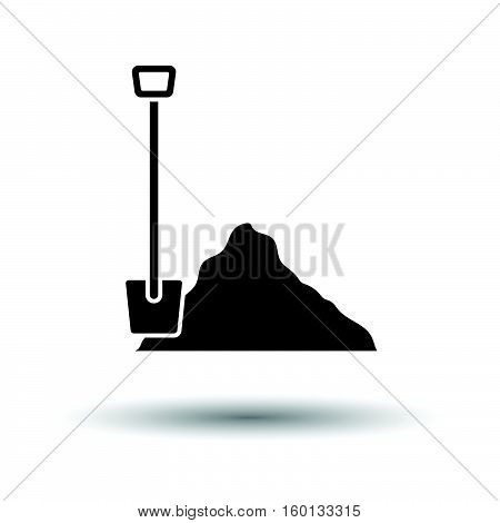 Icon Of Construction Shovel And Sand