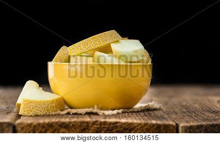 Portion Of Honeydew Melon (selective Focus)