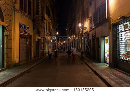 Street Scene In The Old Town Of Florence