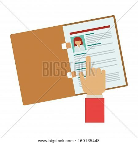 Document icon. Human resources search and employee theme. Isolated design. Vector illustration
