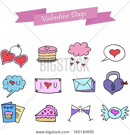 Icon of valentine day collection stock vector illustration