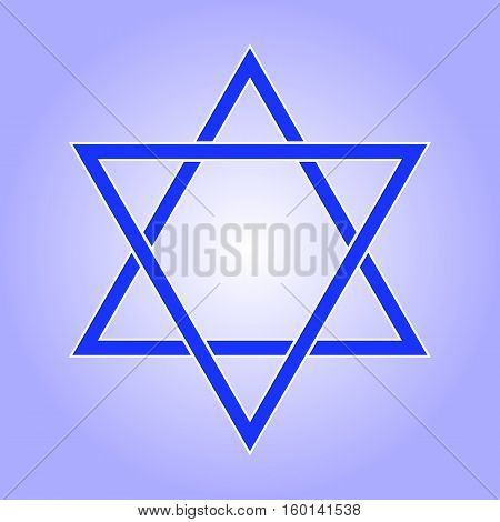 Star of David icon. Star of David flat style. Star of David isolated on white background. Star of David logo. Vector illustration