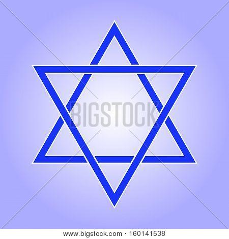 Star of David icon. Star of David flat style. Star of David isolated on white background. Star of David logo. Vector illustration