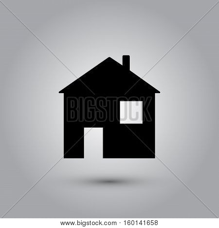 House Icon in trendy flat style isolated on grey background. Homepage symbol for your web site design, logo, app, UI. Vector illustration, EPS10.