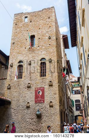Dante Museum In Florence, Italy