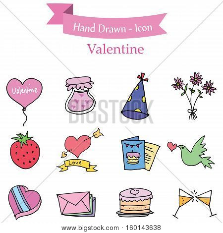 Element valentine collection stock vector art illustration