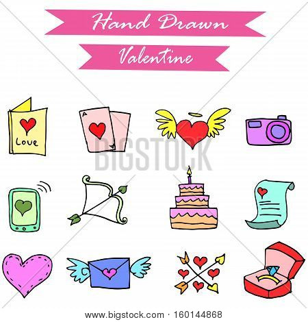 Vector art of valentine element collection stock