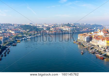 PORTO, PORTUGAL - November 18, 2016. Street view of old town Porto, Portugal, Europe, is the second largest city in Portugal, has a population of 1.4 million.