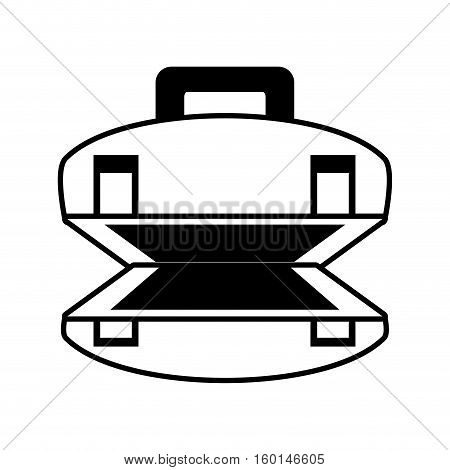 outline open suitcase luggage travel beach vector illustration eps 10
