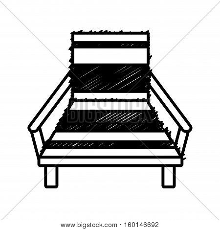 outline chair beach relax wooden vector illustration eps 10