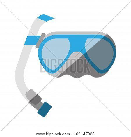 cartoon scuba dive mask tube vector illustration eps 10