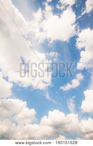 The Beautiful summer sky with cumulus clouds
