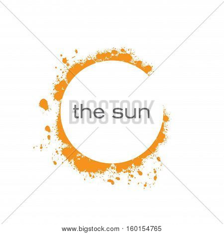 Vector abstract sun spots, isolated abstract illustration